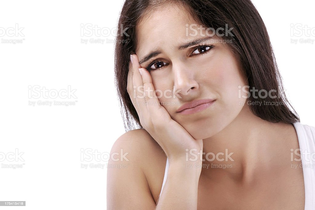 Young woman with problems royalty-free stock photo