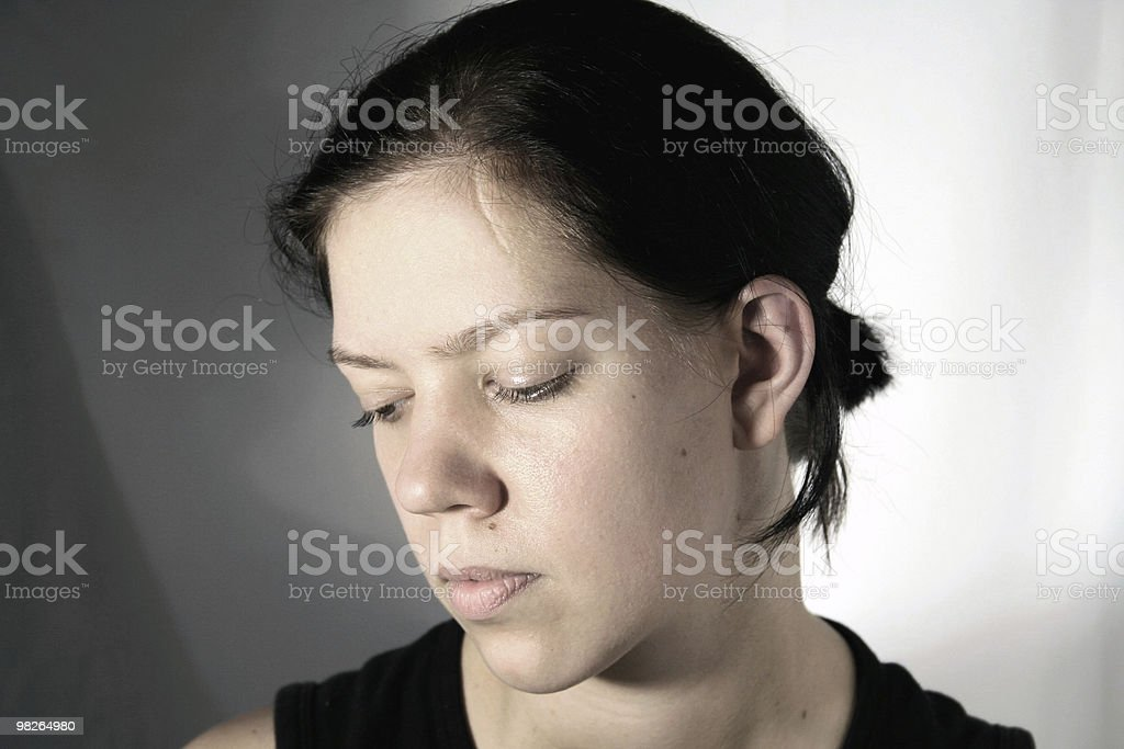young woman with scar royalty-free stock photo