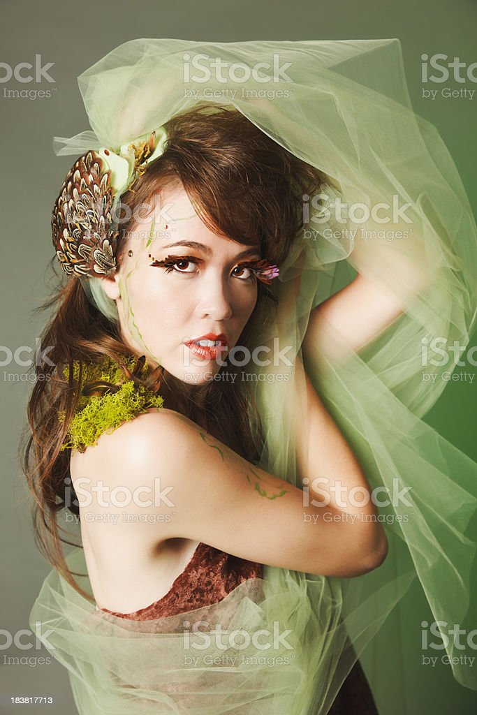 Young Woman With Scarf royalty-free stock photo