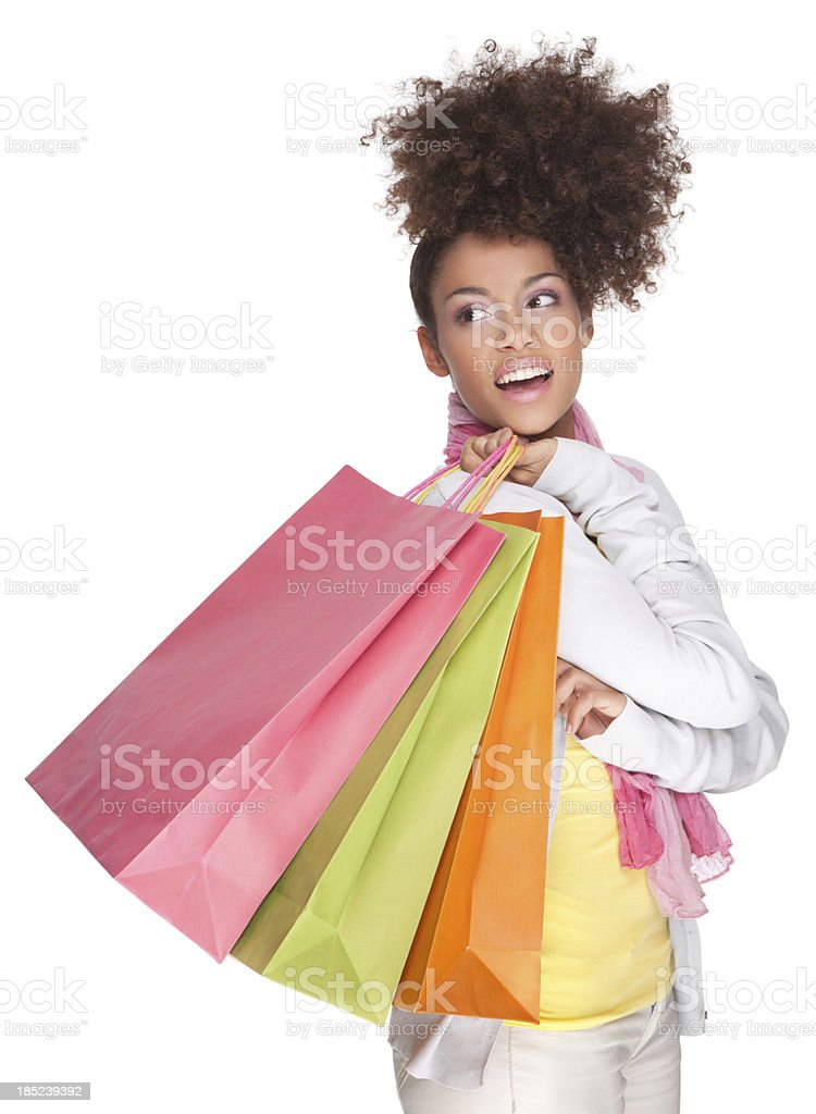 Young woman with shopping bags. royalty-free stock photo