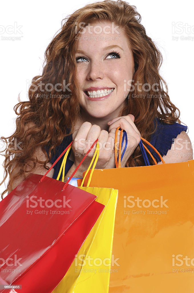 Young Woman With Shopping Bags royalty-free stock photo