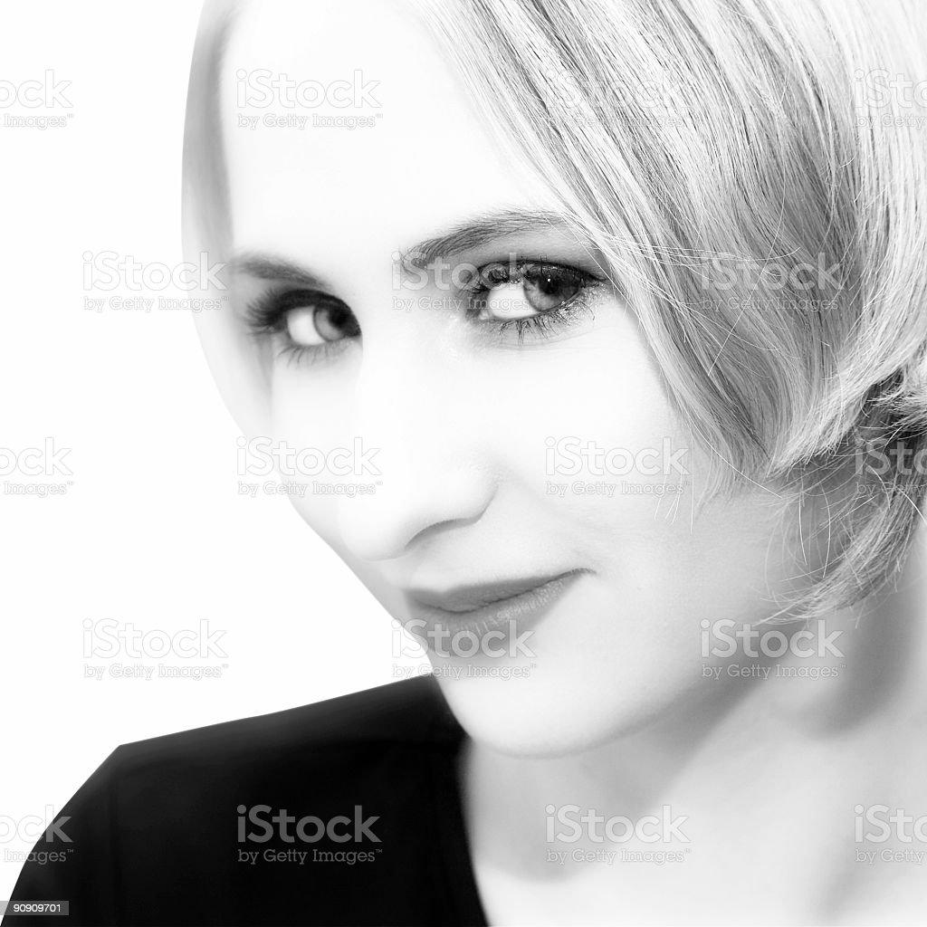 young woman with short hair royalty-free stock photo
