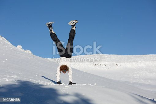 Photograph of real and natural people. Spontaneous session and not prepared. National park of Sierra Nevada, Spain. The young athlete of British origin.