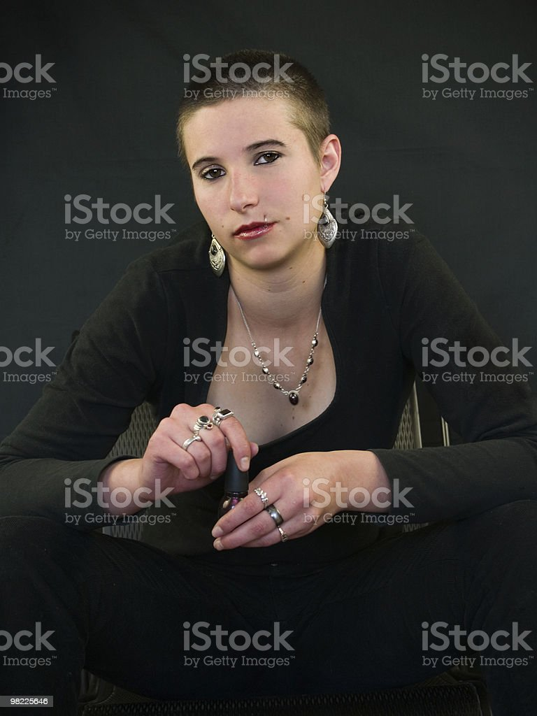 Young woman with some character royalty-free stock photo
