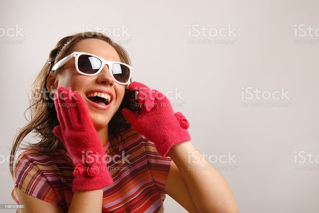 Young woman with sun glasses royalty-free stock photo