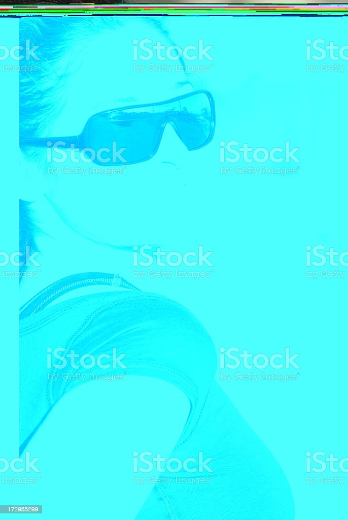 Young Woman With Sunglasses Smiles stock photo