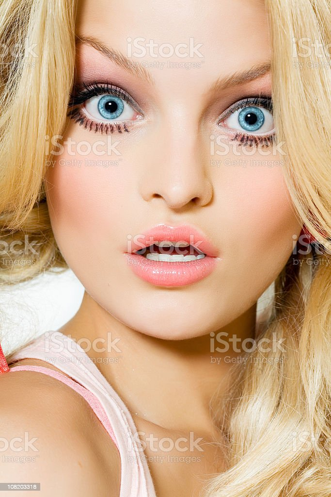 Young Woman with Surprised Look stock photo