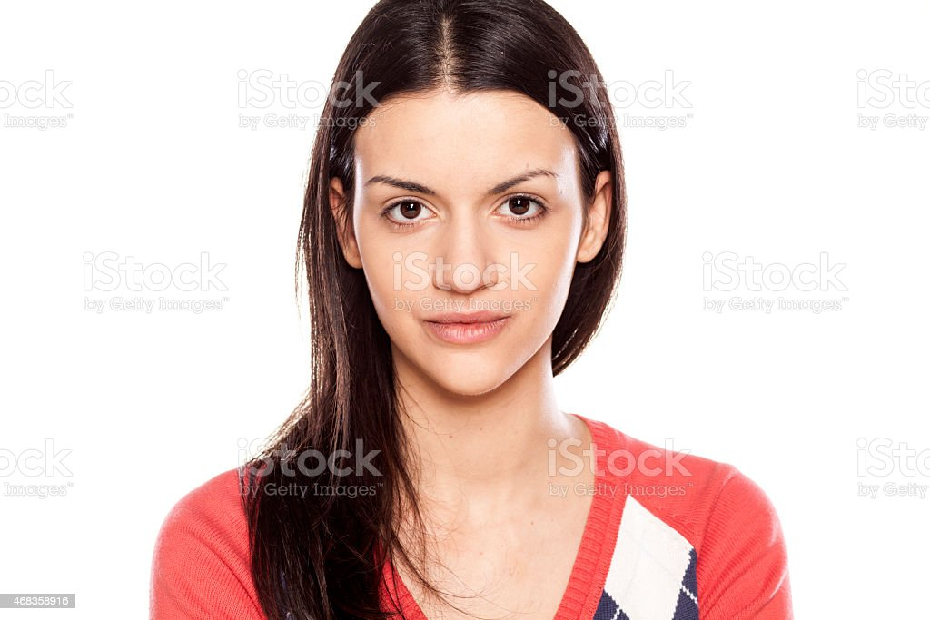 young woman without make up royalty-free stock photo