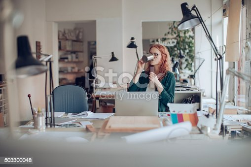 506821756 istock photo Young woman working on a project 503300048