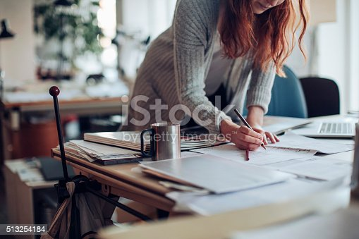 506821756 istock photo Young woman working on a project 513254184