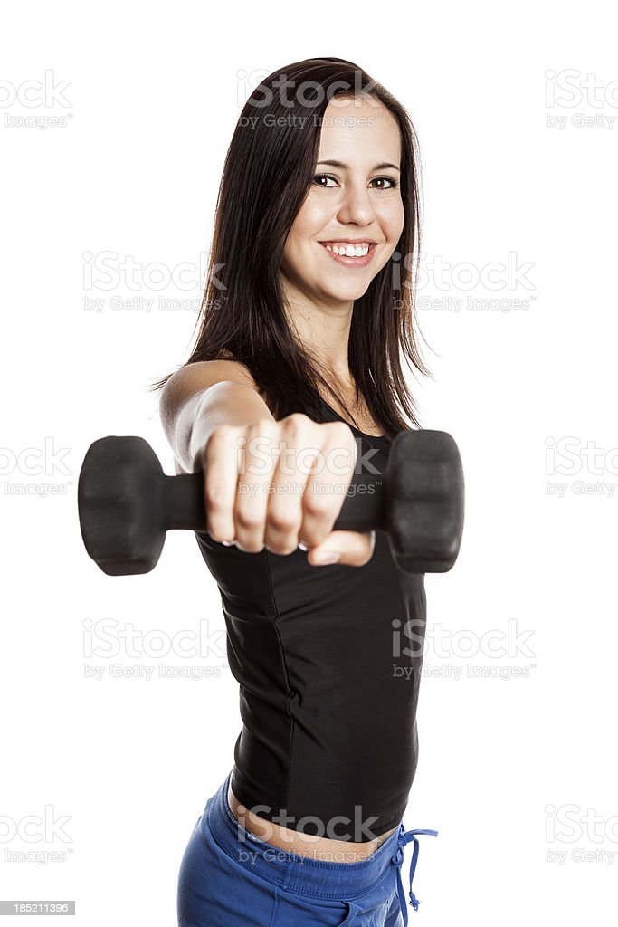 Young woman working out. royalty-free stock photo