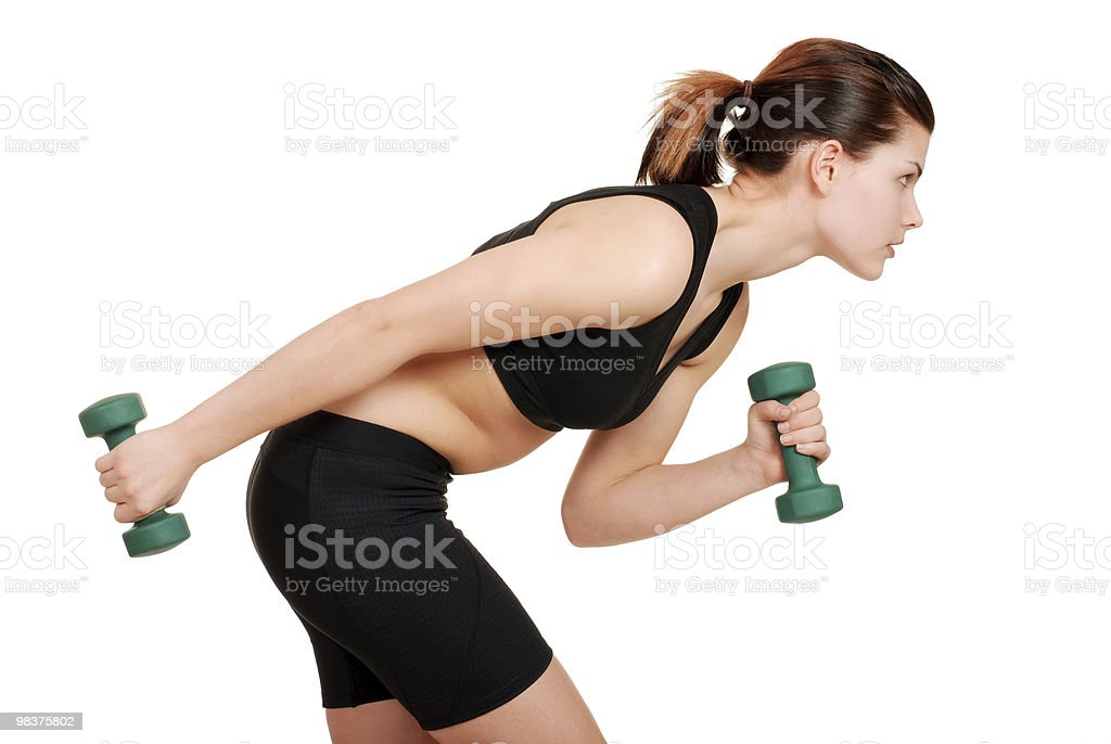 young woman working out royalty-free stock photo