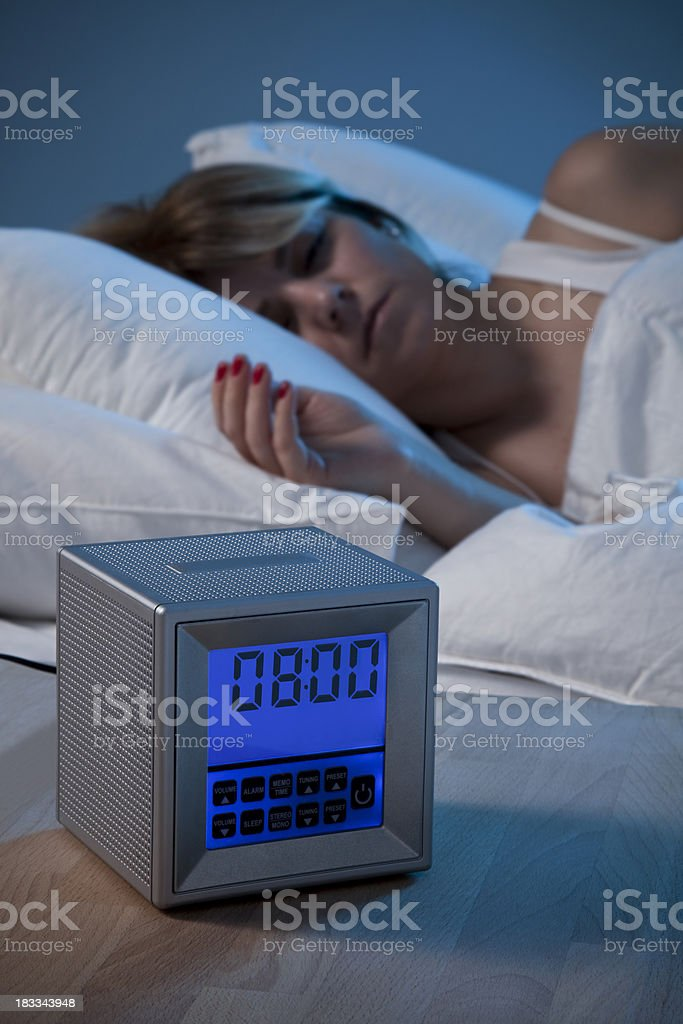 Young womanin bed. stock photo