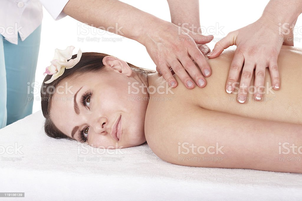 Young womanl having massage. royalty-free stock photo