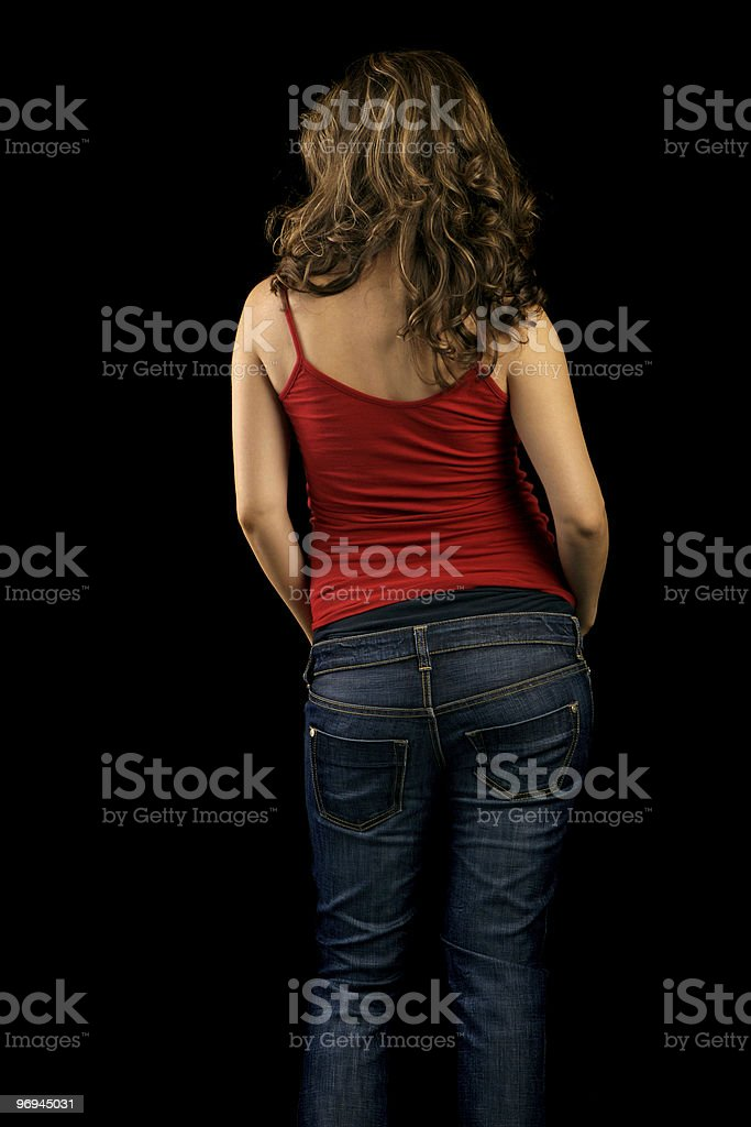 Young woman's Back royalty-free stock photo
