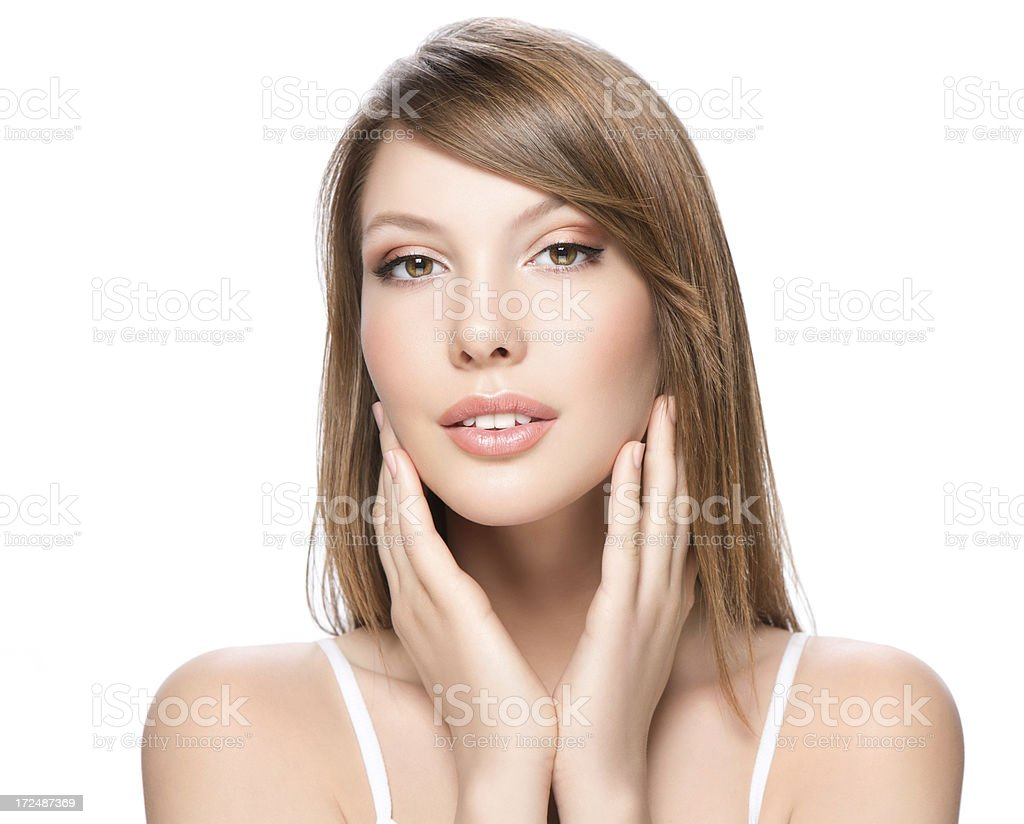 Young woman's beauty royalty-free stock photo