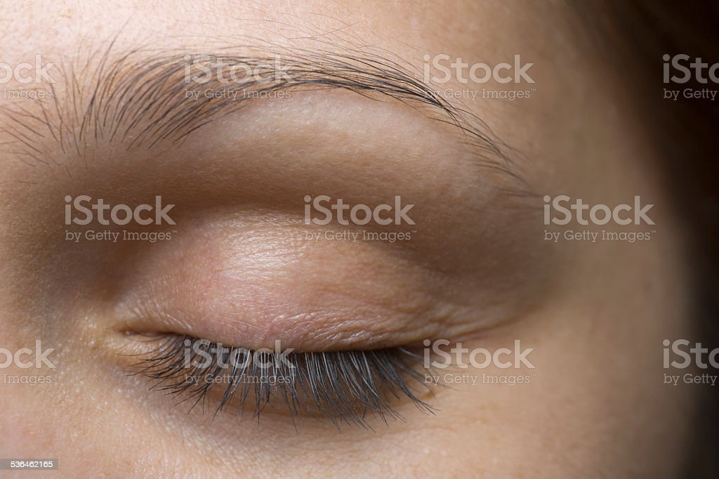 Young Woman's Closed Eye stock photo