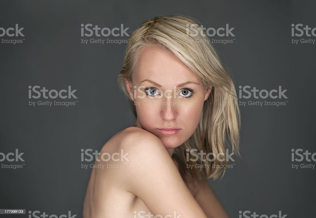 Young woman's face stock photo