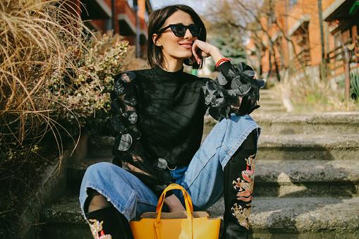 Young pretty fashioned girl - Eccentric fashion