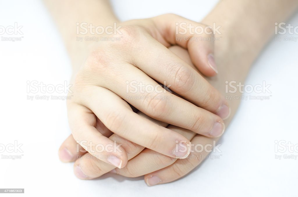 Young woman's hands royalty-free stock photo