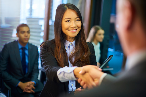 istock young woman's job interview 599255318