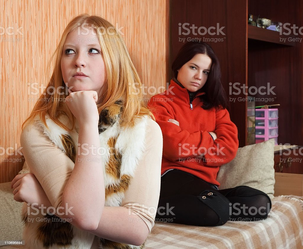 young women after quarrel royalty-free stock photo