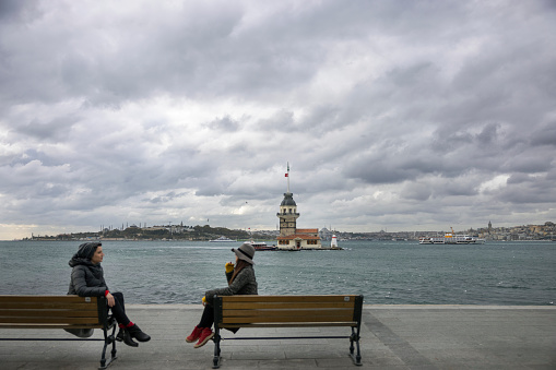 Maiden's Tower in Istanbul TURKEY