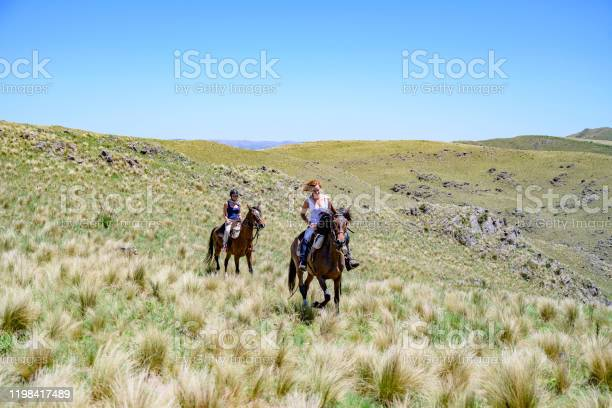 Young women enjoying argentine trail riding on horseback picture id1198417489?b=1&k=6&m=1198417489&s=612x612&h=z7mrygivd6hqfvkvy0  kwnos hizfyukrze 0qr7c8=