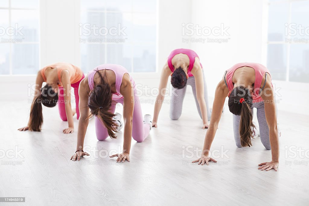 Young Women Exercising royalty-free stock photo