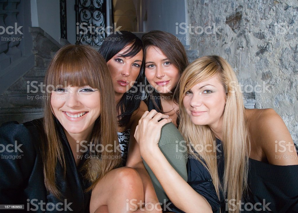young women having fun royalty-free stock photo
