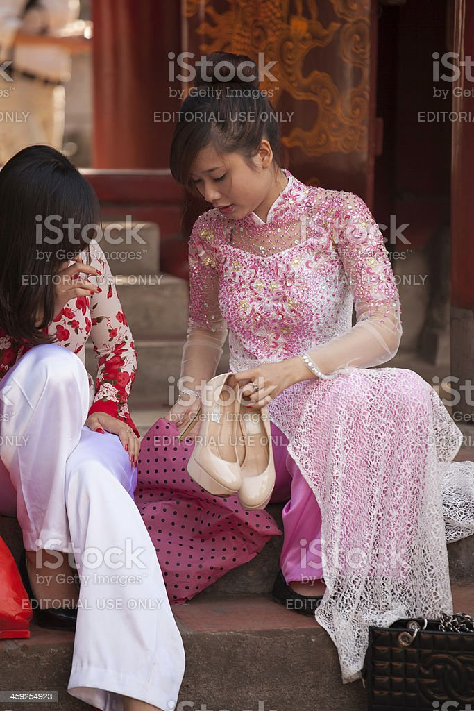 Young women in Hanoi royalty-free stock photo