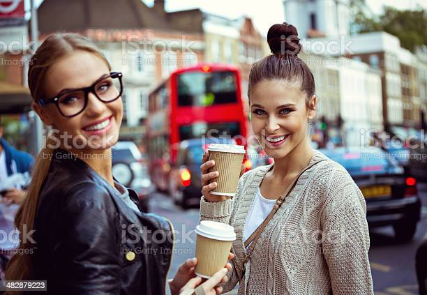 Young Women In London Stock Photo - Download Image Now