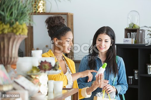 istock Young women in retail shop 519010065