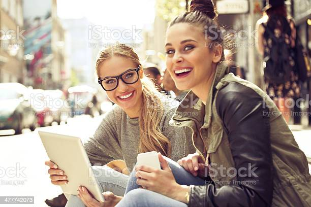Young Women In The City Stock Photo - Download Image Now