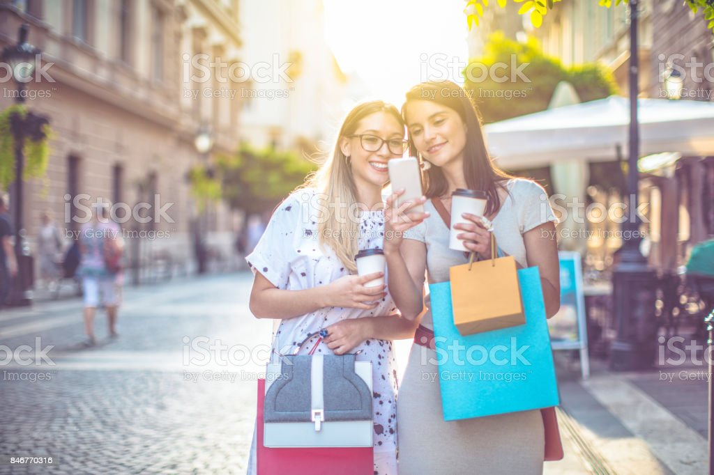 Young women in the city royalty-free stock photo