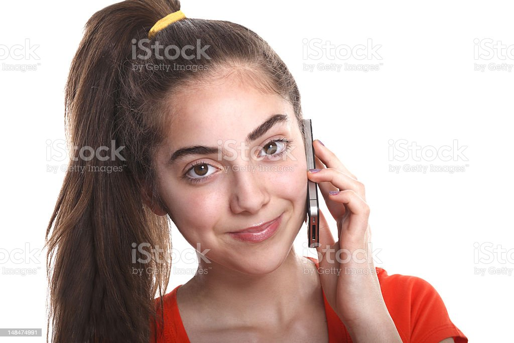 Young women on smart phone. stock photo