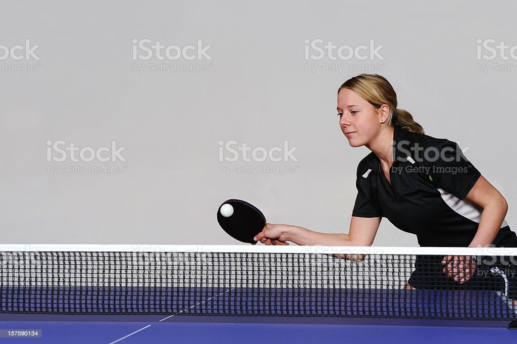 Young women playing forhand royalty-free stock photo