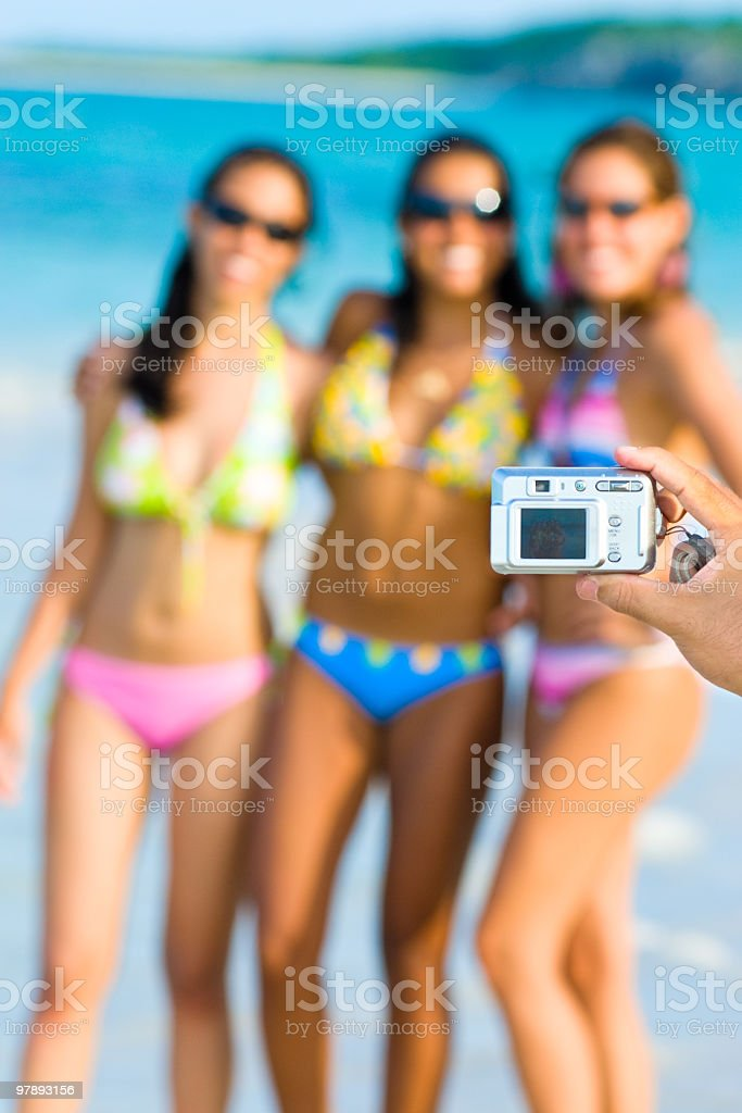 Young Women posing for a photo royalty-free stock photo