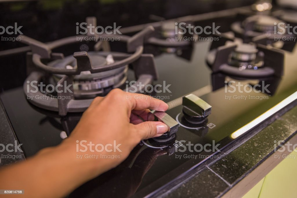 Young women preparing to cook stock photo
