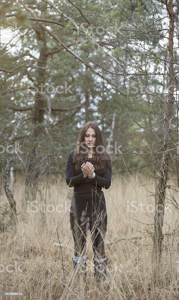 young women relax in the nature royalty-free stock photo
