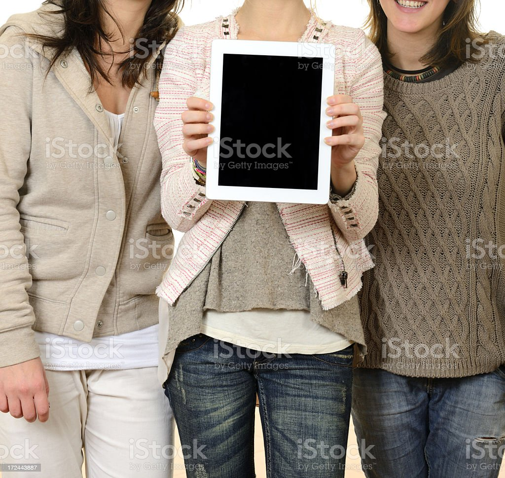 Young Women Showing Digital Tablet royalty-free stock photo