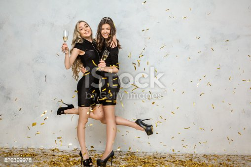 istock Young women together celebrating hen party isolated on white 826369978