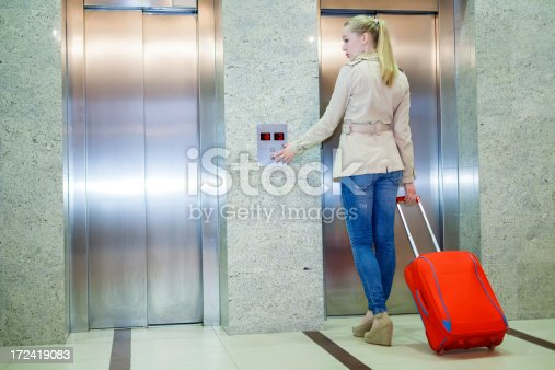638591126istockphoto Young women with a luggage 172419083