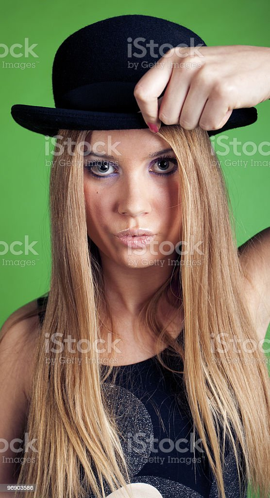 Young women with hat royalty-free stock photo