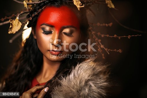 istock Young women with Tribal concept fine art portrait 934245414