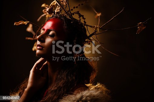 istock Young women with Tribal concept fine art portrait 934245452