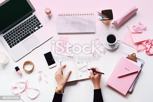923634538 istock photo Young women's table directly above 903650030