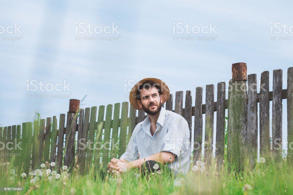 Young worker in the field royalty-free stock photo