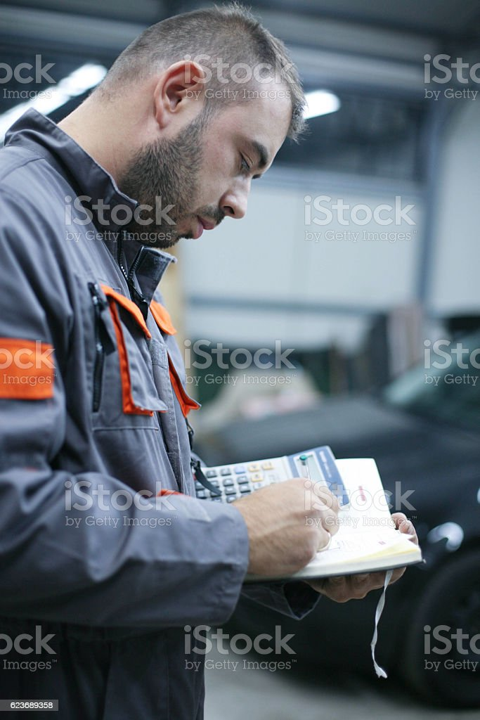Young worker. stock photo