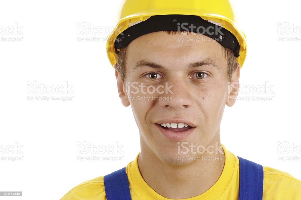 Young worker with perplexed look royalty-free stock photo